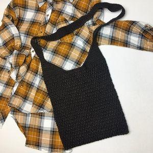 Vintage (2/$20) Crochet Crossbody Bag Brown